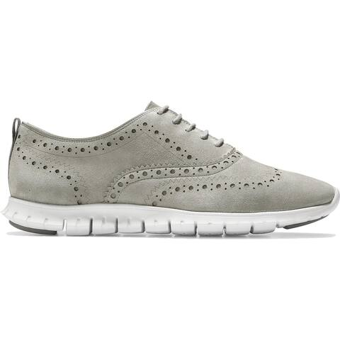 Cole Haan Womens Zerogrand Oxfords Suede Brogue - Ironstone