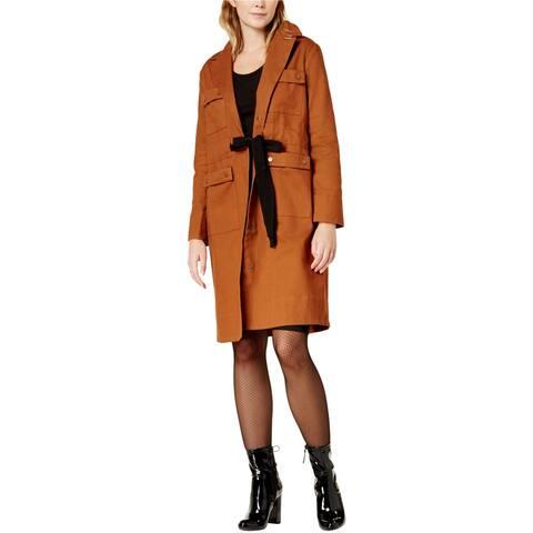 Endless Rose Womens Tie-Waist Anorak Jacket, Brown, Medium