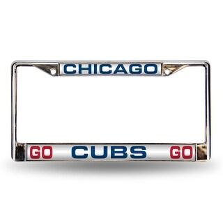 Chicago Cubs Go Cubs Go Laser License Plate Frame