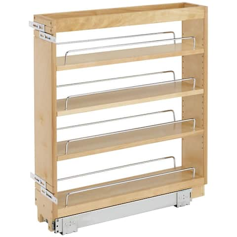 """Rev-A-Shelf 448-BC-6C 448 Series 6-1/2"""" Pull Out Wall Cabinet - Natural Wood"""