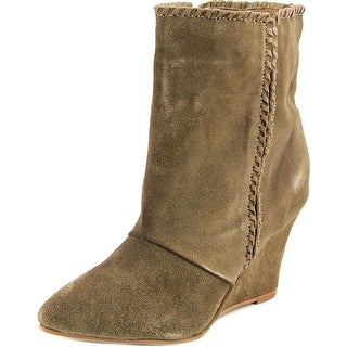 Charles By Charles David Naya Women Pointed Toe Suede Brown Ankle Boot