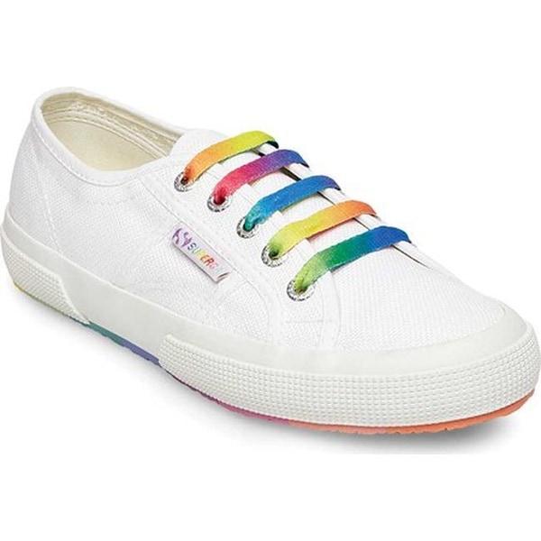 59ea499eab1 Superga Women  x27 s 2750 Cotw Multicolors Outsole Sneaker White  Multicolored Canvas