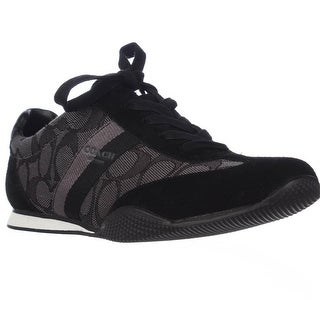 Coach Kelson Signature C Fashion Sneakers - Black Smoke/Black
