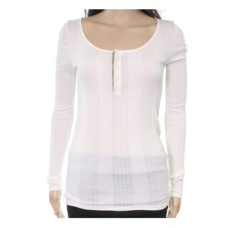 Polo Ralph Lauren NEW White Ivory Womens Size Medium M Henley Knit Top