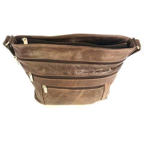 Leather Handbag Shoulder Tote Organizer Crossbody Bag - M