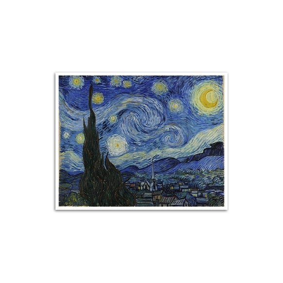 Starry Night - Vincent van Gough - Most Expensive Paintings - 24x20 Poster