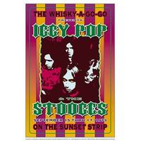 ''Iggy Pop and the Stooges, 1973: Whisky-A-Go-Go, Los Angeles'' by Dennis Loren Concert Posters Art Print (19.5 x 13.5 in.)