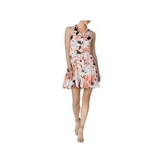 Betsey Johnson Womens Casual Dress Above Knee Floral Print