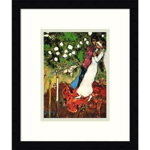 Framed Art Print 'The Three Candles' by Marc Chagall - 13x16-inch