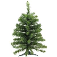"2' x 16"" Canadian Pine Artificial Christmas Tree - Unlit - Green"