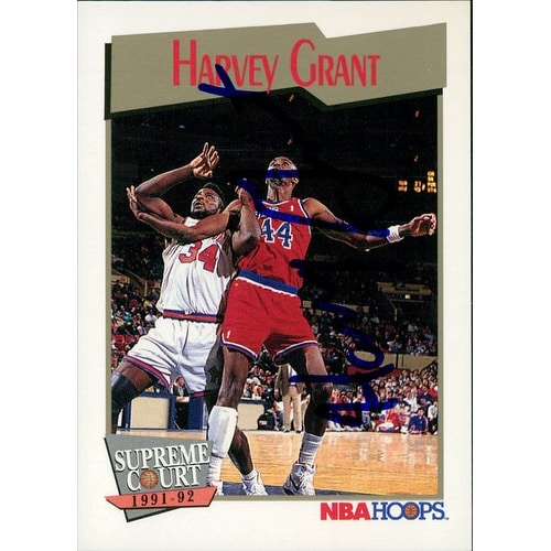 64abecd12af Shop Signed Grant Harvey Washington Bullets 1991 NBA Hoops Basketball Card  autographed - Free Shipping On Orders Over $45 - Overstock - 17690553