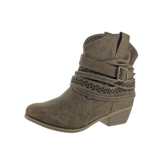 Not Rated Womens Sunami Ankle Boots Faux Leather Western