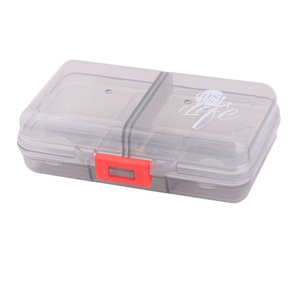 Outdoor Travel PP 8 Compartments Medicine Pill Storage Holder Case Box Gray