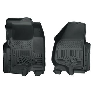 Husky Weatherbeater 2011-2012 Ford F-250/350/450 SD SuperCab FootRest/Sft Grey Front Floor Mats/Liners