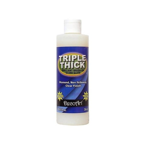 Decoart Triple Thick Glaze 8oz Gloss Bottle