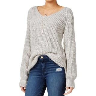 Sanctuary Womens Sequoia Tunic Sweater V-Neck Marled