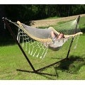 Sunnydaze Thick Cord Mayan Hammock with Curved Spreader Bars - Thumbnail 7