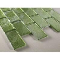 "TileGen. 2"" x 4"" Glass Tile in Green Wall Tile (10 sheets/9.5sqft.)"