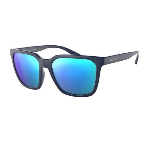 Armani Exchange AX4108S 818125 57 Matte Blue Man Pillow Sunglasses