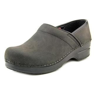 Sanita Albertine Round Toe Leather Clogs