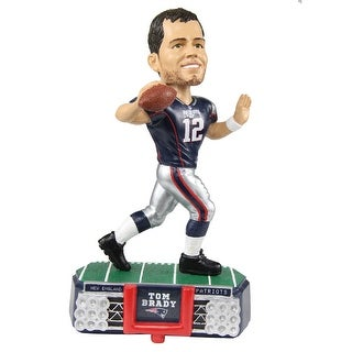 New England Patriots Tom Brady 12 Stadium Light Bobblehead Multi