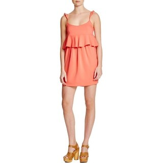 Rachel Zoe Womens Bridgit Party Dress Ruffled Sleeveless