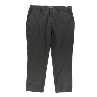 Kenneth Cole Reaction Mens Houndstooth Slim Leg Dress Pants