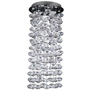 PLC Lighting PLC 96968 Crystal Ten Light Foyer Pendant from the Bubbles Collection - Silver