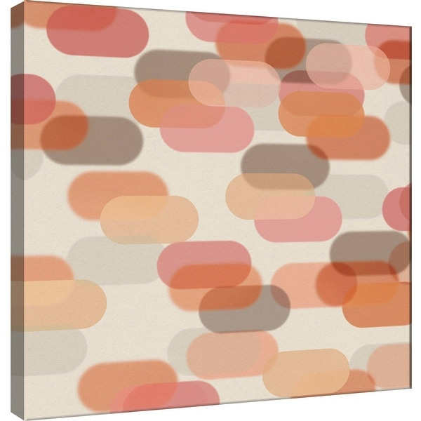 """PTM Images 9-101085 PTM Canvas Collection 12"""" x 12"""" - """"Transitions R"""" Giclee Abstract Art Print on Canvas"""
