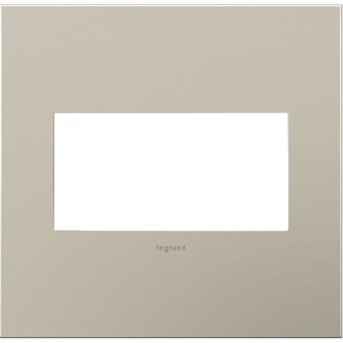 Legrand AWC2GSN4 adorne 2 Gang Metal Wall Plate - 6.56 Inches Wide