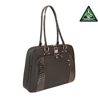 "Mobile Edge Women's Checkpoint Friendly Onyx Briefcase- 16""PC/17""Mac Black - us women's one size (size none)"