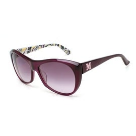 Missoni Women's Cat Eye Style Sunglasses Purple - Small