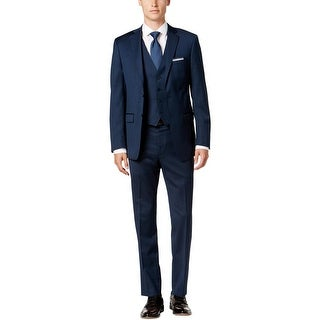 Calvin Klein Mens Big & Tall Two-Button Suit 3 PC Extra Slim Fit - 48XL