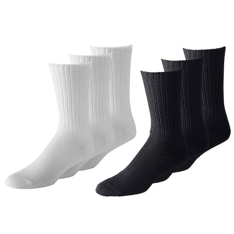 12 Pairs Men's Athletic Crew Socks - Bulk Wholesale Packs - Any Shoe
