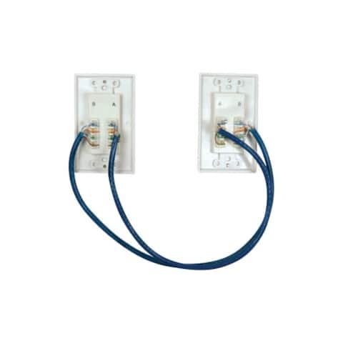 Tripp Lite U06543w Tripp Lite HDMI over Dual Cat5 / Cat6 Extender Wall Plate Kit (P167-000) - Black