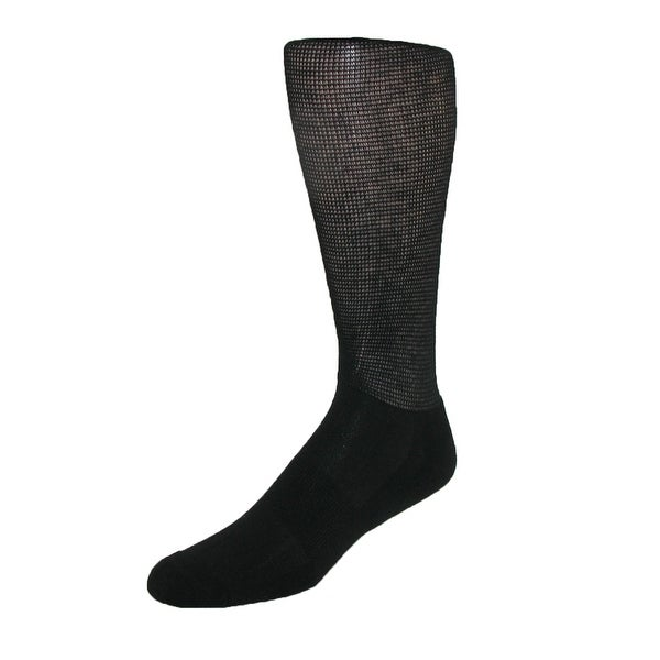 Windsor Collection Men's CoolMax Compression Travel Crew Socks