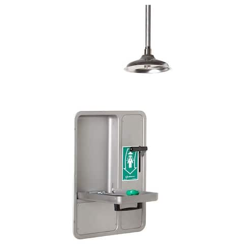 Haws 8356WCC Axion Recessed Cabinet Eye and Face Wash with Pull Down Lever for Ceiling Mounted Drench Shower Head