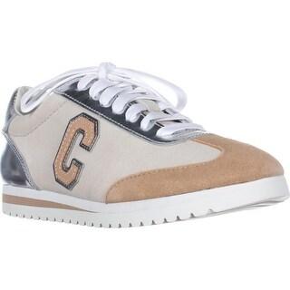 Coach Ian 'C' Logo Fashion Sneakers, Silver/Chalk