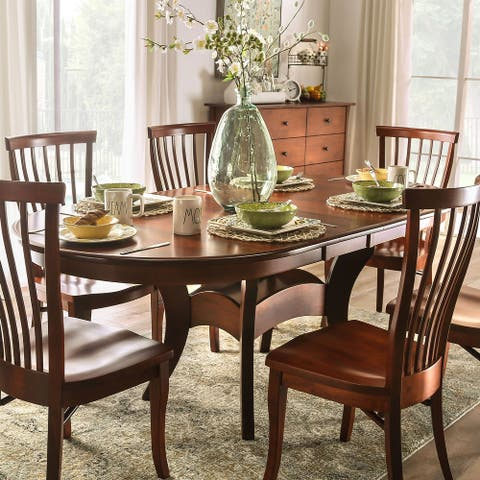 Furniture of America Hina Transitional Brown 60-inch Dining Table