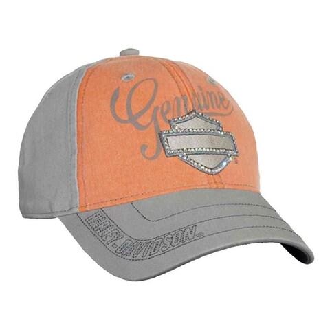 Harley-Davidson Women's Embellished Bar & Shield Baseball Cap, Washed BC114479