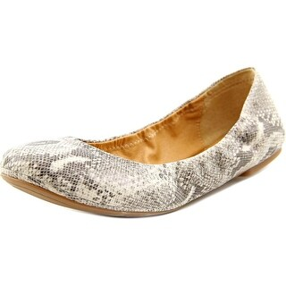 Lucky Brand Emmie W Round Toe Leather Ballet Flats