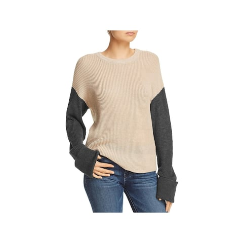 Splendid Womens Pullover Sweater Ribbed Trim Cuffed