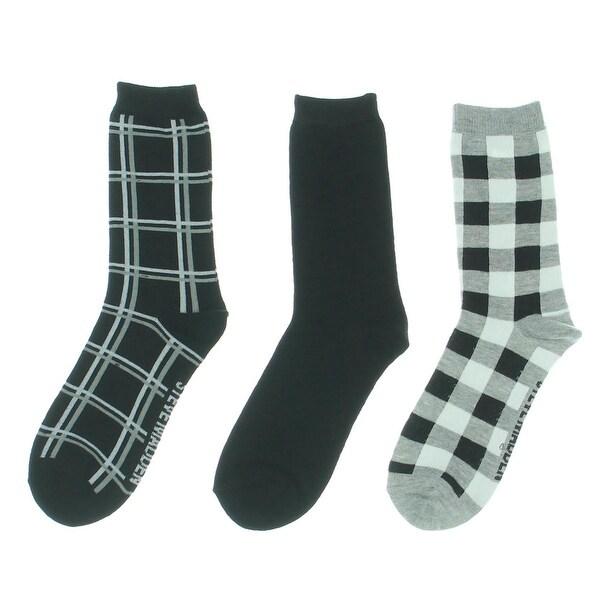 Steve Madden Womens Crew Socks 3PK Printed - 9-11