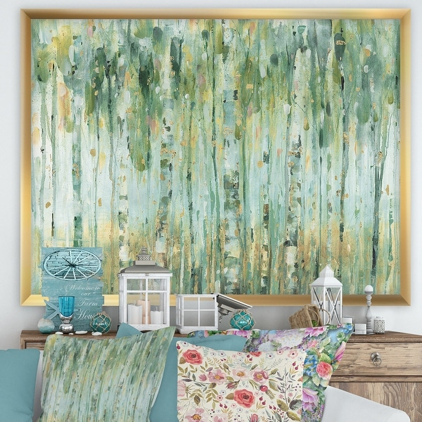 Designart 'The birch Forest II' Traditional Framed Art Print. Opens flyout.