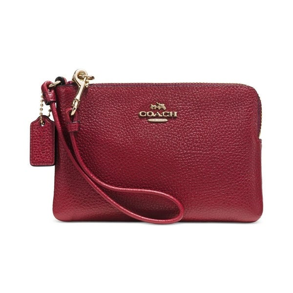 Coach Womens Wristlet Wallet Pebbled Leather - o/s