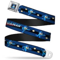 Megaman 8 Bit Stripes Full Color Black Blues Megaman 8 Bit Shooting Action Seatbelt Belt