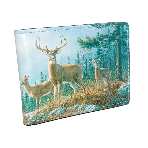 Buxton Men's Wildlife Deer Print Bifold Wallet - One size