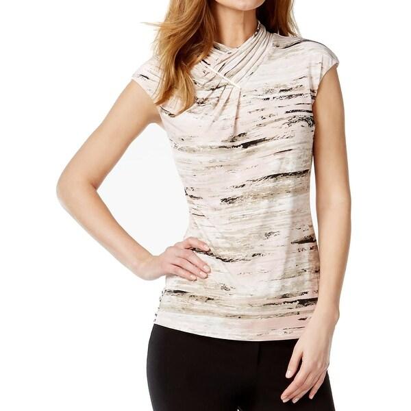 Calvin Klein Womens Pullover Top Printed Sleeveless