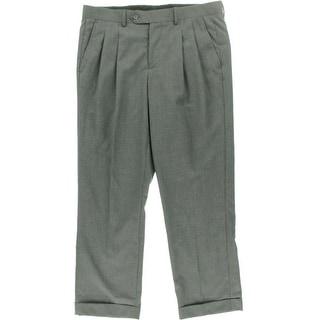 Nautica Mens Houndstooth Cuffed Dress Pants