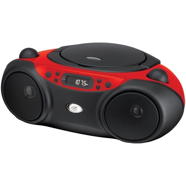 Dpi/Gpx-Personal & Portable Bc232r Sporty Cd And Radio Boombox - Red